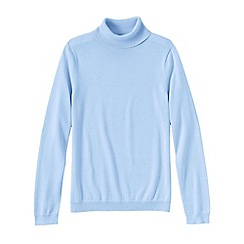 Lands' End - Blue petite supima long sleeve roll neck