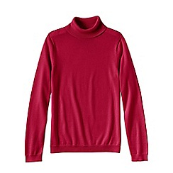 Lands' End - Red petite supima long sleeve roll neck