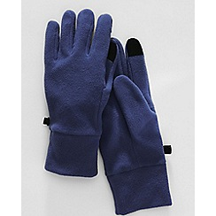 Lands' End - Blue men's ez touch thermacheck 100 fleece gloves
