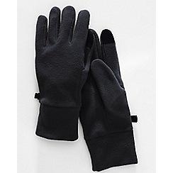 Lands' End - Black men's ez touch thermacheck 100 fleece gloves