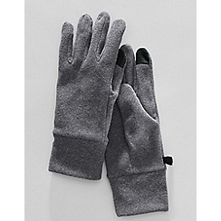 Lands' End - Grey men's ez touch thermacheck 100 fleece gloves
