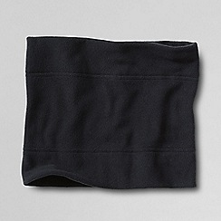 Lands' End - Black men's thermacheck 100 fleece neckwarmer