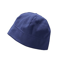 Lands' End - Blue men's thermacheck 100 fleece hat