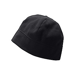 Lands' End - Black thermacheck 100 fleece hat