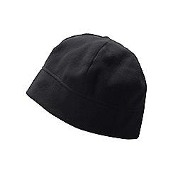 Lands' End - Black men's thermacheck 100 fleece hat