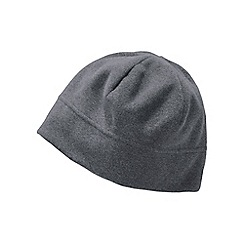 Lands' End - Grey men's thermacheck 100 fleece hat
