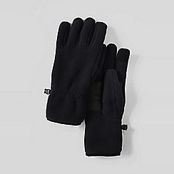 Lands' End - Black men's ez touch thermacheck 200 fleece gloves