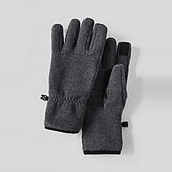 Lands' End - Grey men's ez touch thermacheck 200 fleece gloves