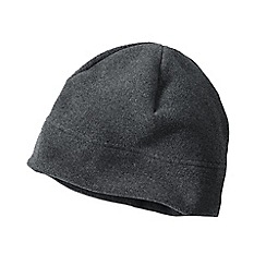 Lands' End - Grey men's thermacheck 200 fleece hat