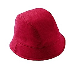 Lands' End - Red cashtouch cloche hat