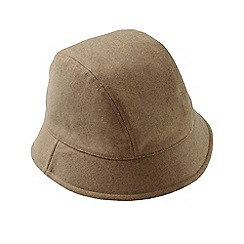 Lands' End - Cream women's cashtouch cloche hat