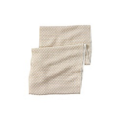 Lands' End - Cream women's cashtouch jacquard infinity scarf