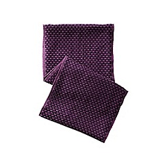 Lands' End - Purple cashtouch jacquard infinity scarf