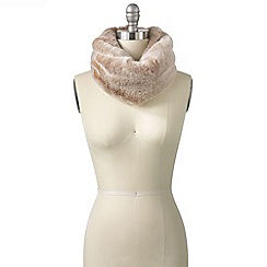 Lands' End - Brown women's faux fur snood