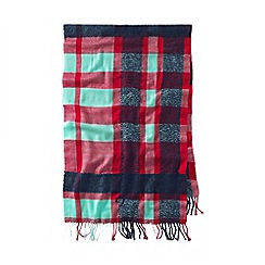 Lands' End - Blue women's plaid blanket scarf