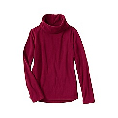Lands' End - Pink women's thermacheck 100 fleece roll neck