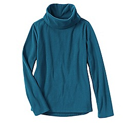 Lands' End - Blue thermacheck 100 fleece roll neck
