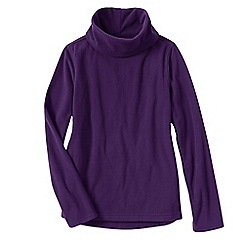 Lands' End - Purple women's thermacheck 100 fleece roll neck