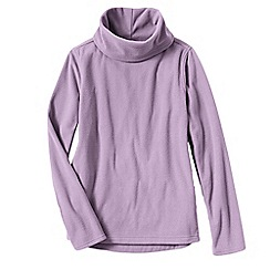 Lands' End - Pink thermacheck 100 fleece roll neck