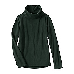 Lands' End - Green thermacheck 100 fleece roll neck