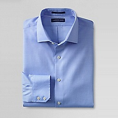 Lands' End - Blue men's tailored fit easy-iron royal oxford shirt