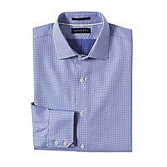 Lands' End - White men's tailored fit easy-iron spread collar royal star shirt