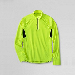 Lands' End - Green active half-zip running top