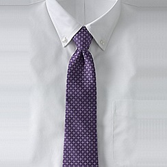 Lands' End - Purple men's intricate hand-sewn silk tie