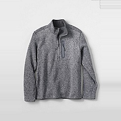 Lands' End - Grey men's sweater fleece half-zip pullover