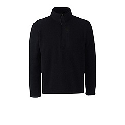 Lands' End - Black sweater fleece half-zip pullover