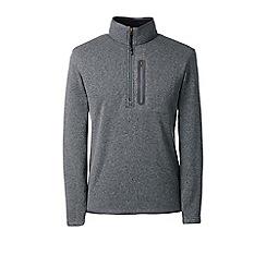 Lands' End - Grey sweater fleece half-zip pullover