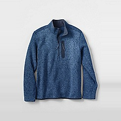 Lands' End - Blue men's sweater fleece half-zip pullover