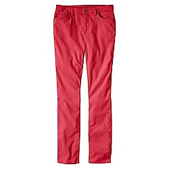 Lands' End - Red women's mid rise cord slim leg trousers