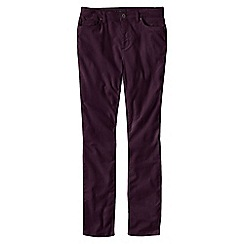 Lands' End - Purple women's mid rise cord slim leg trousers