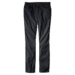 Lands' End - Black women's mid rise cord slim leg trousers