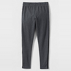 Lands' End - Grey girls' side stripe ankle leggings