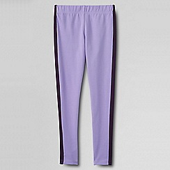 Lands' End - Purple girls' side stripe ankle leggings