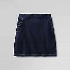 Lands' End - Blue little girls' pull on indigo! skort