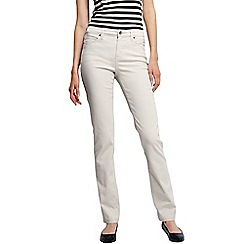 Lands' End - Beige women's straight leg stretch jeans