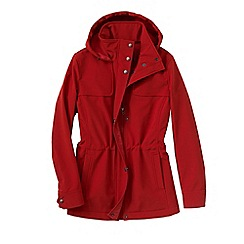 Lands' End - Orange women's softshell hooded jacket