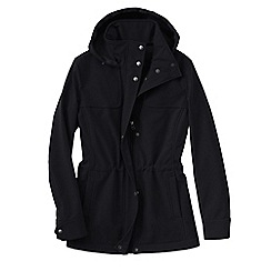 Lands' End - Black women's softshell hooded jacket