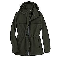 Lands' End - Green softshell hooded jacket