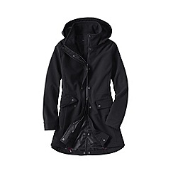 Lands' End - Black women's softshell hooded coat
