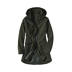 Lands' End - Green women's softshell hooded coat