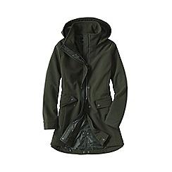 Lands' End - Green women's softshell hooded coat