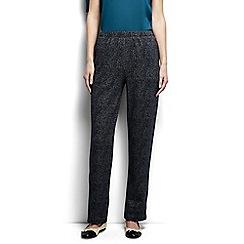 Lands' End - Grey regular jacquard sport knit trousers