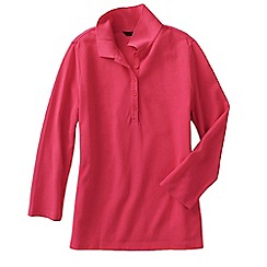 Lands' End - Pink women's regular cotton modal pique polo