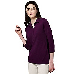 Lands' End - Red women's regular cotton modal pique polo