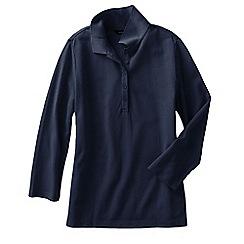 Lands' End - Blue women's regular cotton modal pique polo