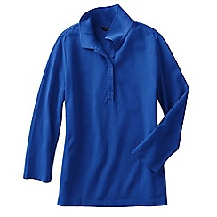 Lands' End - Blue petite  cotton modal pique polo